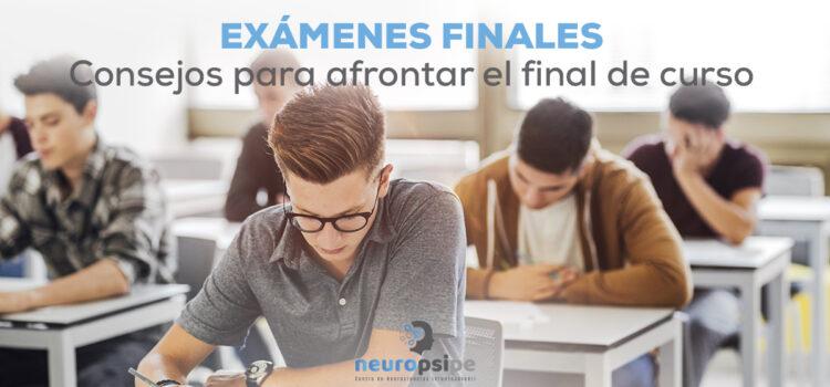 Exámenes finales. Consejos para afrontar el final de curso